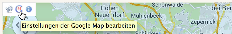 Screenshot: Symbolleiste Google Maps