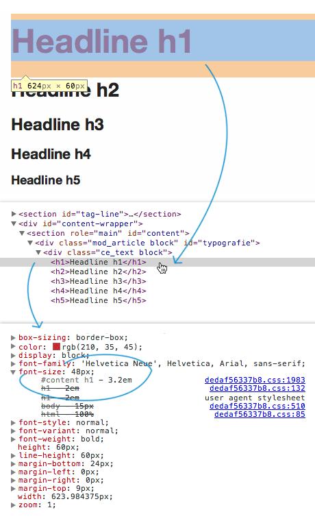 Screenshot: Schematische Darstellung der Entwicklerwerkzeuge